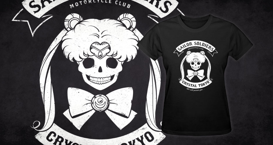 Sailor Moon Biker Motorcycle Club t-shirts