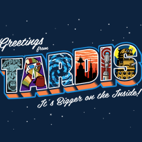 Greetings from the TARDIS Postcard Tee